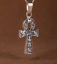 Crux Ansata - Ägyptisches Kreuz Talisman aus Silber 925