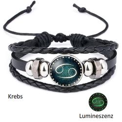 Krebs - Lumineszenz Armband mit Sternzeichen