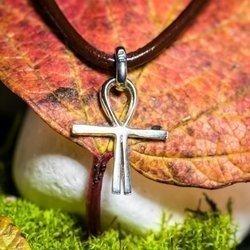Kreuz des Atlantis 1,7cm Schutz Talisman aus 925er Silber