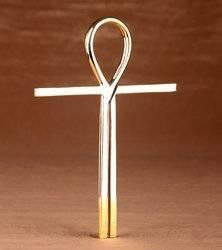 Kreuz des Atlantis aus Messing 13,7cm Schutz Talisman