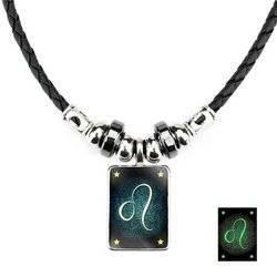 Löwe - Lumineszenz Halskette mit Sternzeichen