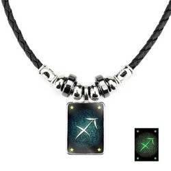 Schutze - Lumineszenz Halskette mit Sternzeichen