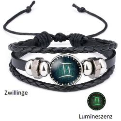 Zwillinge - Lumineszenz Armband mit Sternzeichen