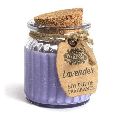 6x Lavendel - Duftende Sojakerzen im Glas