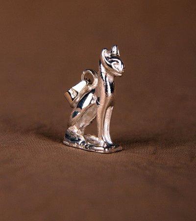 Bastet Katze 2,1cm Talisman aus Silber 925