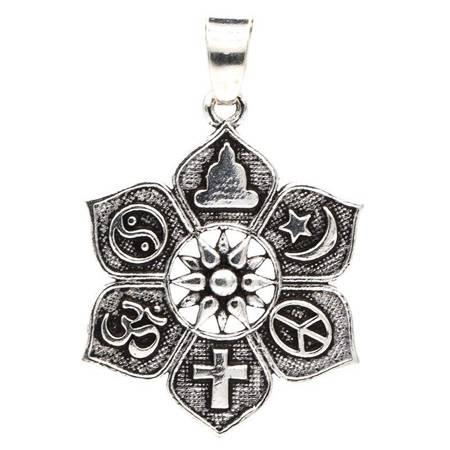 Lotus mit Religiösen Symbolen