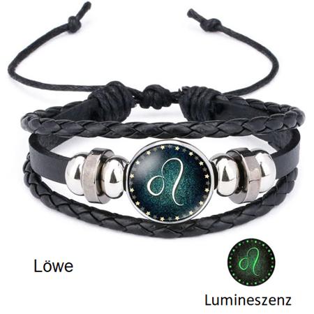Löwe - Lumineszenz Armband mit Sternzeichen