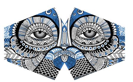 Modische Schutzmaske - Mystische Eule