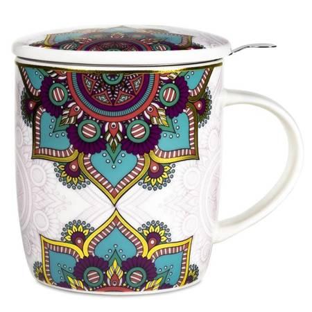 Teetasse mit Türkis Mandala