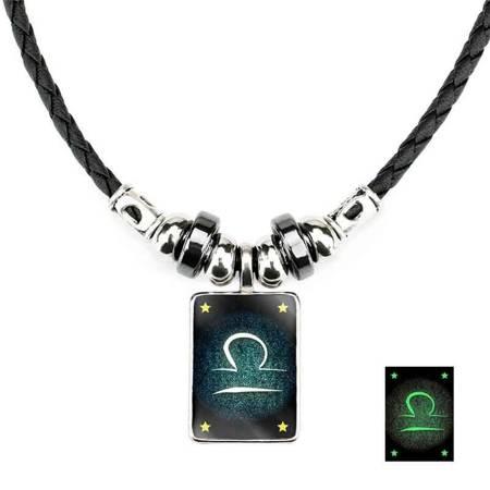 Waage - Lumineszenz Halskette mit Sternzeichen