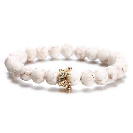 Weiß Acryl Armband